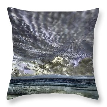 Myrtle Beach Hand Tinted Panorama Sunrise Throw Pillow