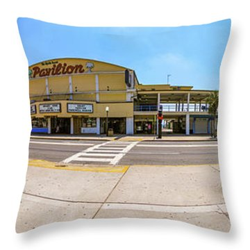 Myrtle Beach Pavilion Building Throw Pillow