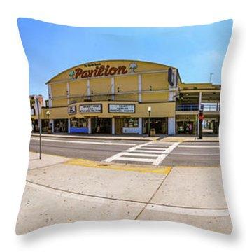 Myrtle Beach Pavilion Building Throw Pillow