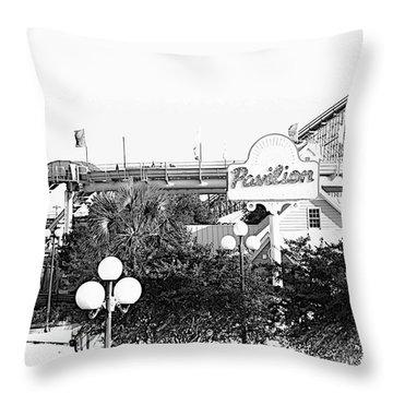 Myrtle Beach Pavillion Amusement Park Monotone Throw Pillow