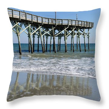 Myrtle Beach Pier Throw Pillow