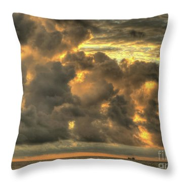 Myrtle Beach Seascape Throw Pillow