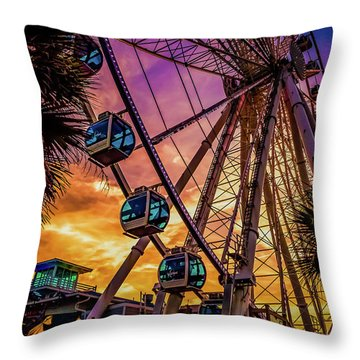 Myrtle Beach Skywheel Throw Pillow