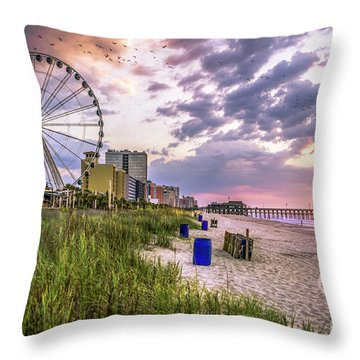 Myrtle Beach Sunrise Throw Pillow