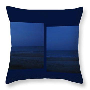 Myrtle Beach Sunrise Panorama Throw Pillow