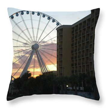 Myrtle Beach Sunset 2 Throw Pillow by Gordon Mooneyhan