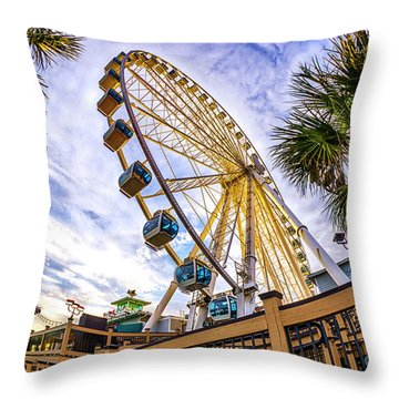 Myrtle Beach Sunset Throw Pillow