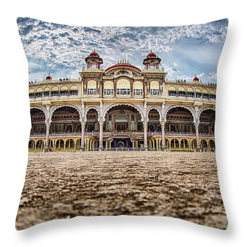 Throw Pillow featuring the photograph Mysore Palace by Chris Cousins