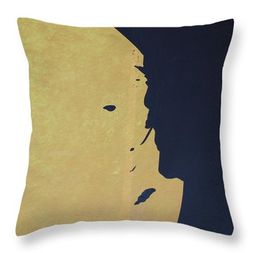 Mysteries Face Throw Pillow by Michael L Gentile