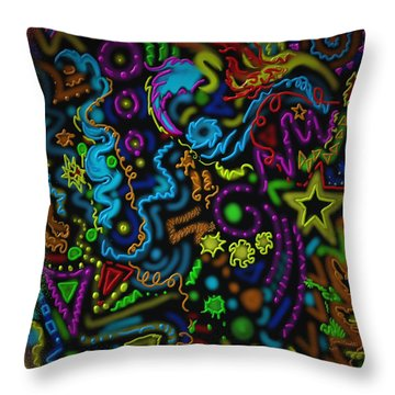 Mysteries Of The Night Throw Pillow