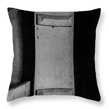 Mysterious Attic Door  Throw Pillow by Off The Beaten Path Photography - Andrew Alexander