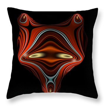 Mysterious Creature Throw Pillow