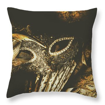 Mysterious Disguise Throw Pillow
