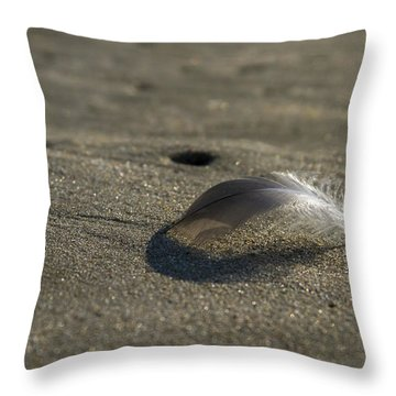 Mysterious Feather Throw Pillow
