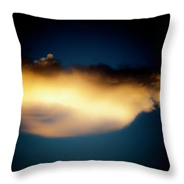 Throw Pillow featuring the photograph Mysterious Glow by Eric Christopher Jackson