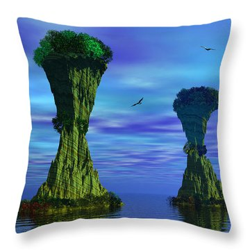 Mysterious Islands Throw Pillow