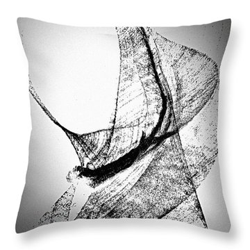 Throw Pillow featuring the painting Mysterious Lady by Joan Reese