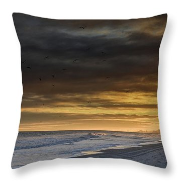 Mysterious Myrtle Beach Throw Pillow by Kelly Reber