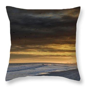 Mysterious Myrtle Beach Throw Pillow