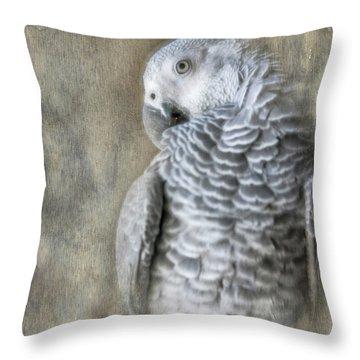 Mysterious Parrot Throw Pillow