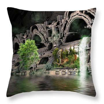 Mysterious Place Throw Pillow