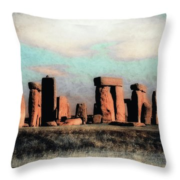Throw Pillow featuring the photograph Mysterious Stonehenge by Jim Hill