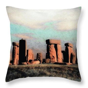 Mysterious Stonehenge Throw Pillow