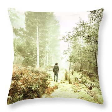 Mysterious Trail Throw Pillow
