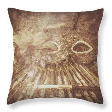 Mysterious Vintage Masquerade Throw Pillow by Jorgo Photography - Wall Art Gallery