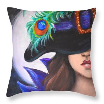 Throw Pillow featuring the painting Mystery And Magic by Agata Lindquist