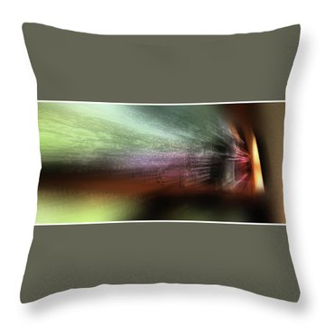 Mystery Around The Bend Throw Pillow