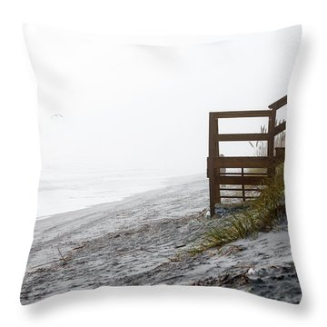 Throw Pillow featuring the photograph Mystery Beach by Anthony Baatz