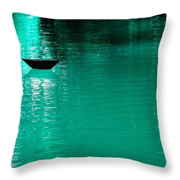 Mystery Boat Throw Pillow