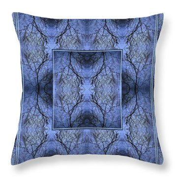 Mystery Blue Throw Pillow