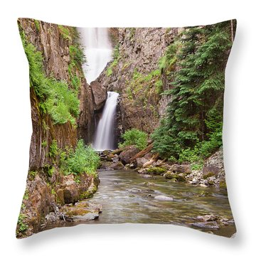 Mystery Falls Throw Pillow