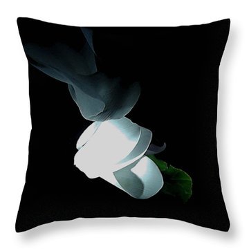 Mystery Flower Throw Pillow