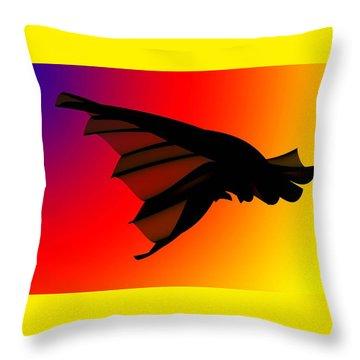 Mystery In Flight Throw Pillow
