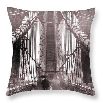 Mystery Man Of Brooklyn Throw Pillow