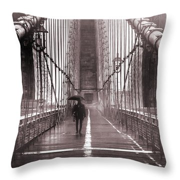 Mystery Man Of Brooklyn Throw Pillow by Az Jackson