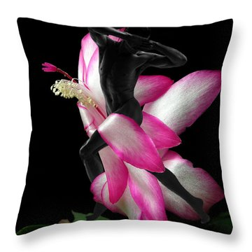 Mystery Man Throw Pillow by Torie Tiffany