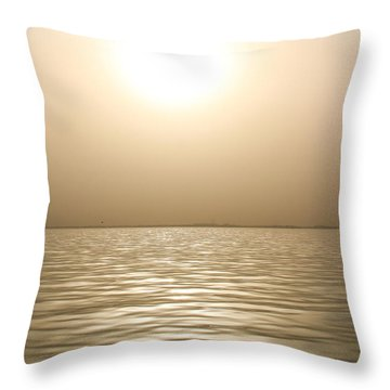 Mystery Sandstorm Sunset- The Red Sea Throw Pillow