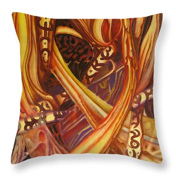 Mystery Signs Throw Pillow by Rita Fetisov