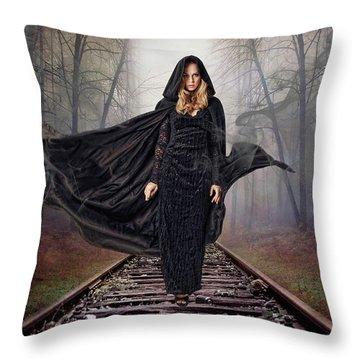 Mystery Train Throw Pillow
