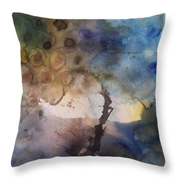 Mystery Tree Throw Pillow by Becky Chappell