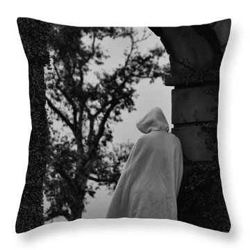 Mystery Woman Throw Pillow by Nadalyn Larsen