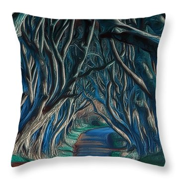 Mystic Alley Throw Pillow