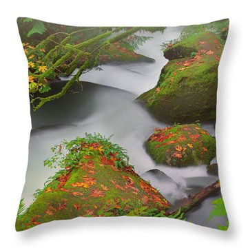 Mystic Autumn Throw Pillow by Jacqui Boonstra