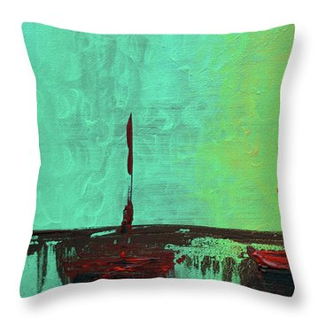 Mystic Bay Triptych 1 Of 3 Throw Pillow