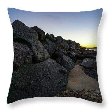 Mystic Beach Throw Pillow