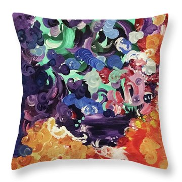 Mystic Beth  Throw Pillow